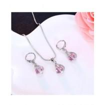 A.M Crystal Pendant Earrings For Women (0035)