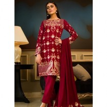Aamna Aqeel A Velvet Romance Limited Edition Winter Collection 3 Piece (AQVL-4)