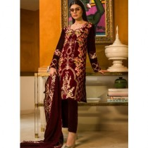 Aamna Aqeel A Velvet Romance Limited Edition Winter Collection 3 Piece (AQVL-6)