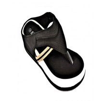 Anee Shoes Rexine And PU Sole Flip Flop For Women Black