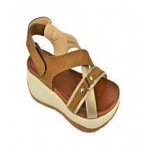 Anee Shoes Rexine And PU Sole Flip Flop Sandal For Women Brown