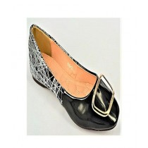 Anee Shoes Rexine Flat Pump For Women Black