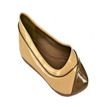 Anee Shoes Rexine Flat Pump For Women Cream