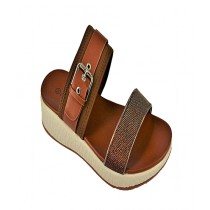Anee Shoes Rexine & PU Slippers For Women Brown