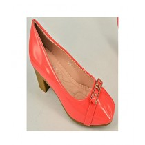 Anee Shoes Rexine Wedge For Women Orange