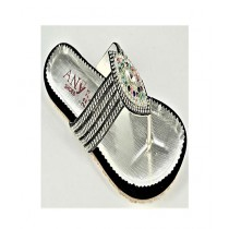 Anee Shoes Suede & Rexine For Women Silver