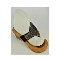 Anee Shoes Suede Wedge For Women Black & Brown