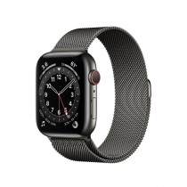 Apple Watch Series 6 44mm Graphite Stainless Steel Case With Milanese Loop Strap GPS Cellular
