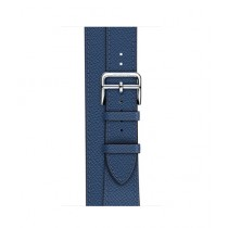 Apple Epsom Leather Double Tour Band For Watch Hermes 38mm - Bleu Agate (MNHK2)
