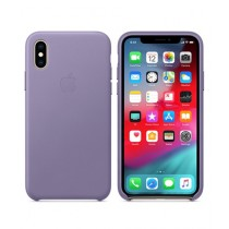 Apple Leather Lilac Case For iPhone X/XS