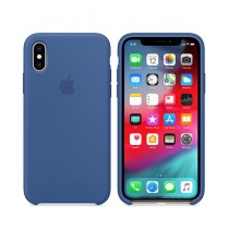 Apple Silicone Delft Blue Case For iPhone X/XS