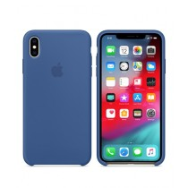 Apple Silicone Delft Blue Case For iPhone XS Max