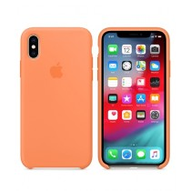 Apple Silicone Papaya Case For iPhone X/XS
