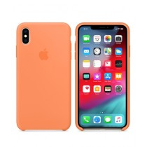 Apple Silicone Papaya Case For iPhone XS Max