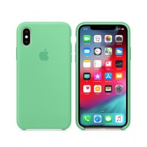 Apple Silicone Spearmint Case For iPhone X/XS