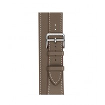Apple Swift Leather Double Tour Band For Watch Hermes 38mm - Etoupe (MNHG2)