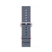 Apple Woven Nylon Band for iWatch 38mm - Light Pink/Midnight Blue (MNK62)