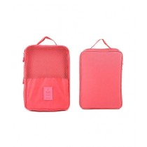 AGM Waterproof Travel Shoes Organizer Bag Pink