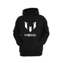 Arru Store Messi Printed Hoodie For Men Black