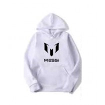 Arru Store Messi Printed Hoodie For Men White