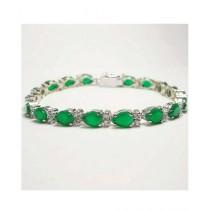 Artistic Jewels Bracelet For Women White/Green (BR-50)