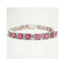 Artistic Jewels Bracelet For Women White/Pink (BR-54)