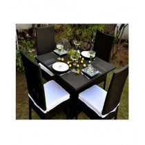 AS Shopping Zone Outdoor Dinning set With 4 Chairs & Table Black