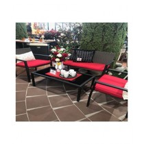 AS Shopping Zone Outdoor Sofa Set With 2 Chairs & Table Brown