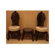 AS Shopping Zone Royal Chair Set With Table Sheesham Wood