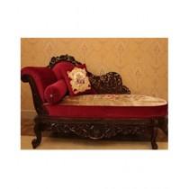 AS Shopping Zone Royal Deewan Sofa Sheesham Wood Red