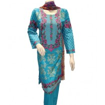 ASD Fashion Cotton Printed Embroidered Suit For Women (0018)