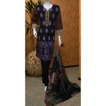 ASD Fashion Thread & Needles Embroidered Lawn For Women (0015)