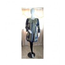 ASH Collection Embroidered Coat Style Kurti For Women Grey