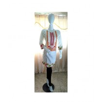 ASH Collection Embroidered Kurti For Women Off White (0048)