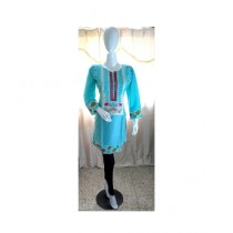 ASH Collection Embroidered Kurti For Women Sky Blue