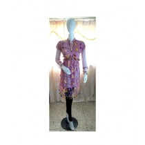 ASH Collection Embroidered Net Kurti For Women Pink