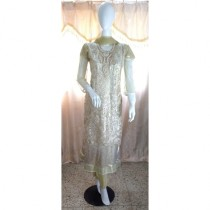 ASH Collection Embroidered Party Wear Dress For Women (Golden)