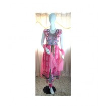 ASH Collection Embroidered Party Wear Suit For Women Pink