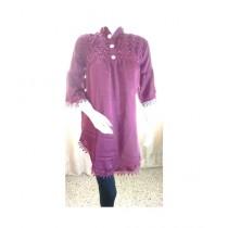 ASH Collection Silk Shirt For Women Magenta