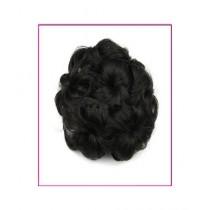 Attari Clamp Buns Synthetic Hair Headband Black (AC-0292)