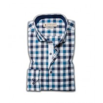 Avocado Mint Formal Shirt For Men Navy And White (PS-19)