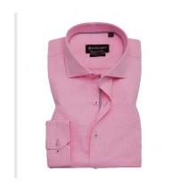 Avocado Salmon Formal Shirt For Men Pink Self Eye Textured (PS-35)