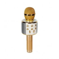 Ayesha's Collection Wireless Bluetooth Karaoke Microphone Mic Speaker Gold (WS-858)