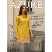 Azure Chiffon Collection Embroidery Unstitch Kurti For Women Yellow