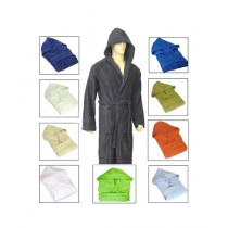 B & B Collections Hooded Bathrobes Multicolor