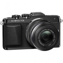 Olympus PEN Black Mirrorless Camera (E-PL7) with 14-42mm Lens