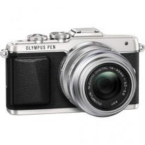 Olympus PEN Silver Mirrorless Camera (E-PL7) with 14-42mm Lens