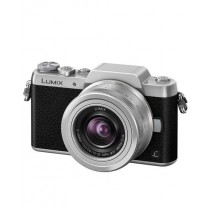 Panasonic Black and Silver Lumix Mirrorless Camera (DMC-GF7) with 12-32mm Lens