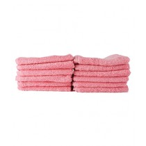 Bath & Home Egyptian Face Towel Baby Pink Pack Of 12 (196)