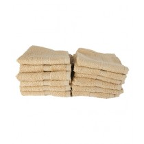 Bath & Home Egyptian Face Towel Beige Pack Of 12 (185)